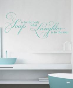 Tekst badkamer – interieurstickers.be