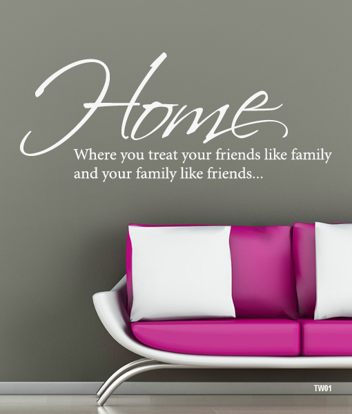 Tekst Op Muur.Home Is Where You Interieurstickers Be